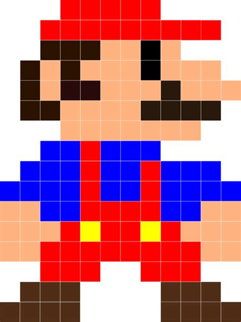 Piq Pixel Art Mario Luigi And Wario 100x100 Pixel