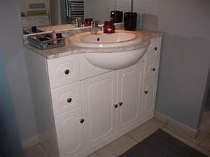 salle de bain photo 4 4 peinture grise aux murs et With repeindre meuble salle de bain