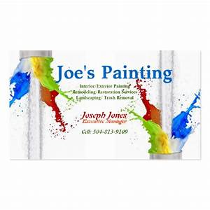 Business card sample painting series revised double for Painting business cards ideas