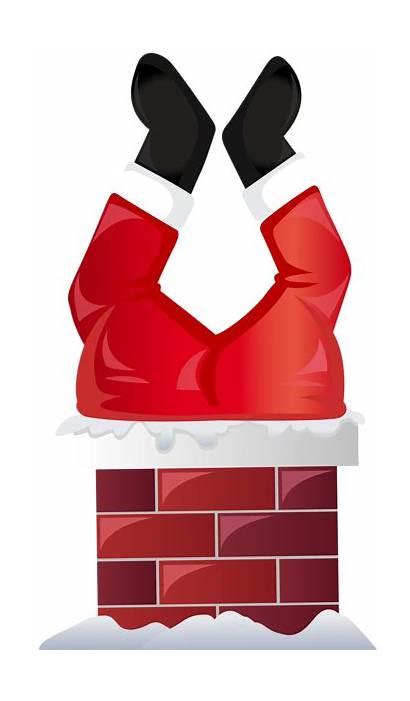 Santa Chimney Transparent Funny Clip Clipart Claus