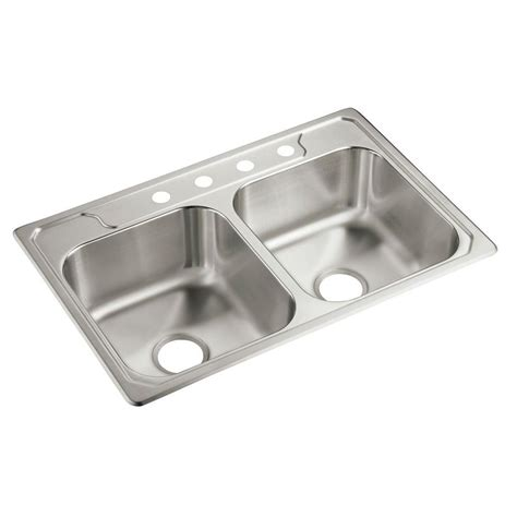 stainless steel kitchen sink sterling middleton drop in stainless steel 33 in 4 8264