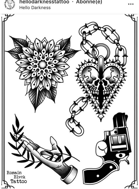 Pin by TRUDYS TATTOO PARLOUR on OLD/NEW SCHOOL REFERENCE | Tattoo design drawings, Dark tattoo