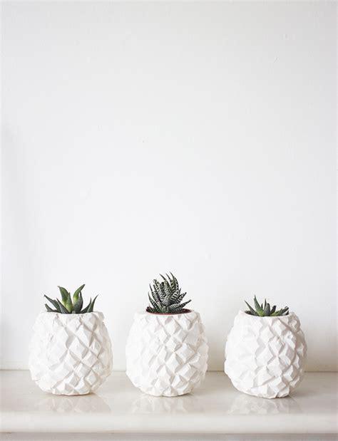 White Pineapple Decor by Pineapple Pots Kate La Vie