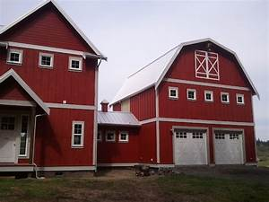 red barn farm house eclectic exterior seattle With barn red exterior house paint