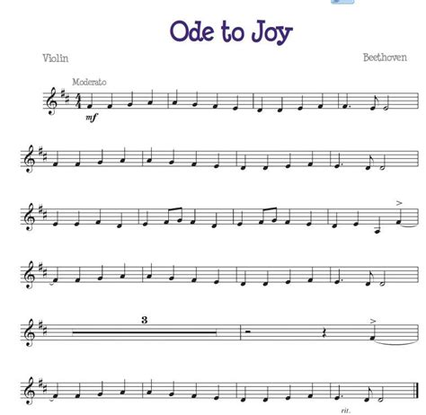 ode to joy for the beginner violinist free beginners
