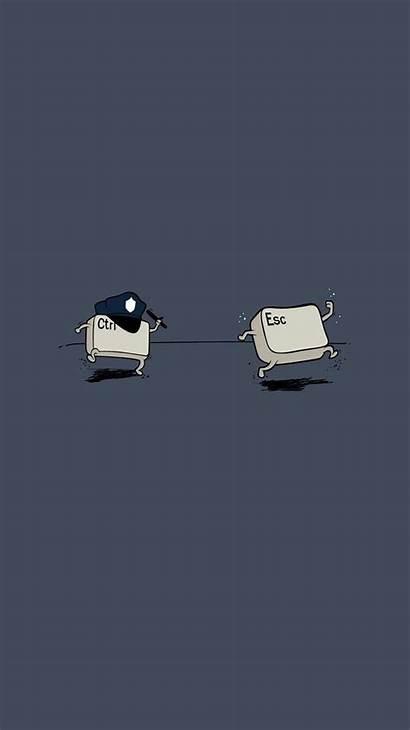 Funny Wallpapers Iphone Esc Ctrl Chase Desktop