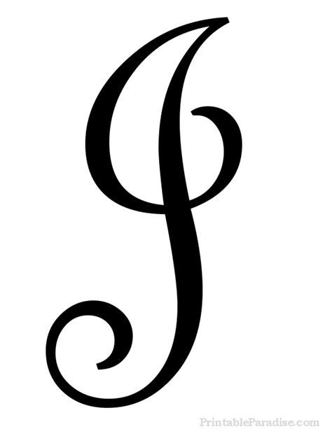 Printable Letter J in Cursive Writing   Letter j in