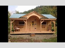 Vermont Post and Beam Sheds and Cabin kits YouTube