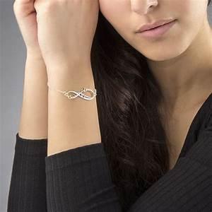 bracelet infini avec prenom With robe de cocktail combiné avec collier infini swarovski