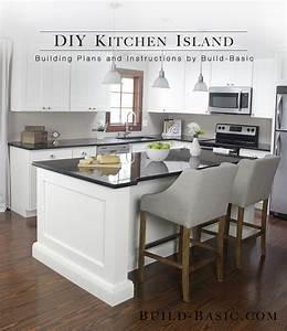 Build, A, Diy, Kitchen, Island, U2039, Build, Basic