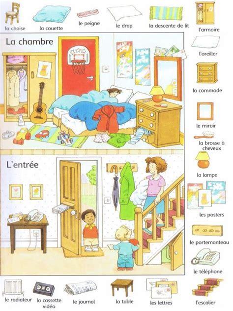 les chambres de la maison livre mots and français on