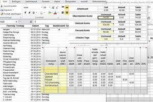 Arbeitszeit Mit Excel Berechnen : stundenerfassung in excel ~ Themetempest.com Abrechnung