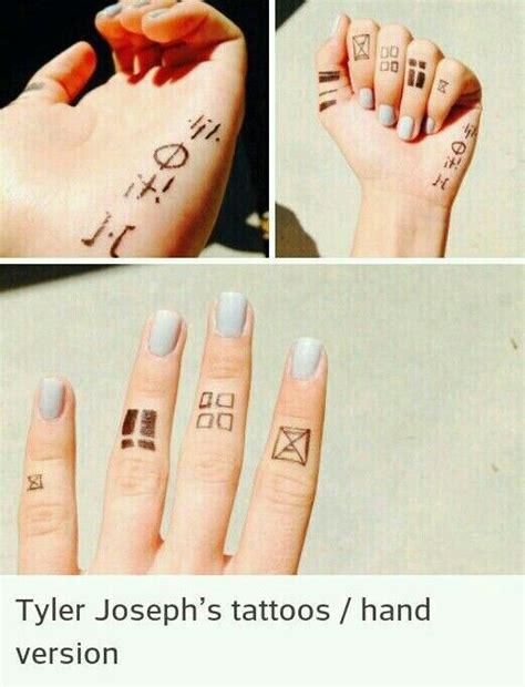 Tyler Joseph's Tattoos Hand Version  Twenty One Pilots