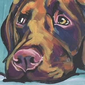 Labrador Retriever art print modern Dog art print chocolate
