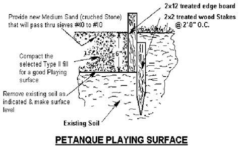 petanque court dimensions build a petanque court