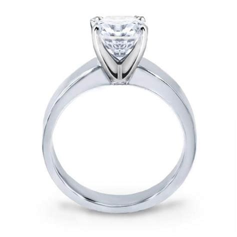 diamond engagement ring flat edge solitaire ring