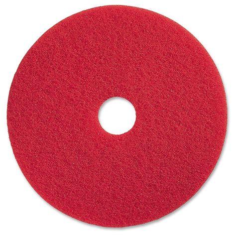 genuine joe 17 in red buffing floor pad 5 per carton