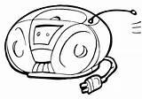 Radio Coloring Radio3 sketch template