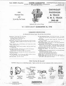 Carter W-1 Service Procedures