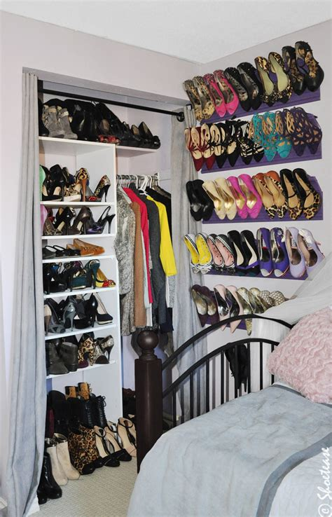 Toronto Shoe Closet With Diy Shoe Storage Inspired By