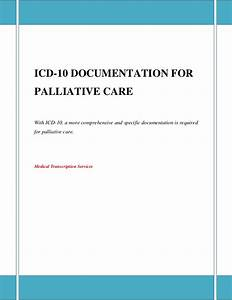 Icd 10 documentation for palliative care for Icd 10 physician documentation