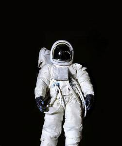 Astronaut Against A Black Background Stock Photo - Image ...