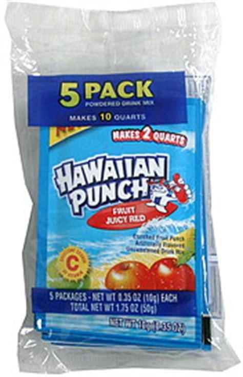Hawaiian Punch Powdered Drink Mix Fruit Juicy Red 5.0 ea