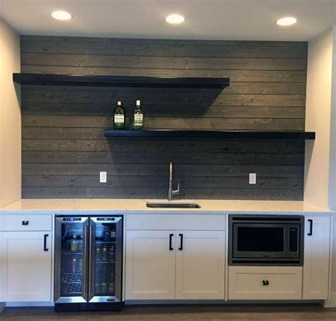 Basement Bar Backsplash by Top 60 Best Wood Backsplash Ideas Wooden Kitchen Wall
