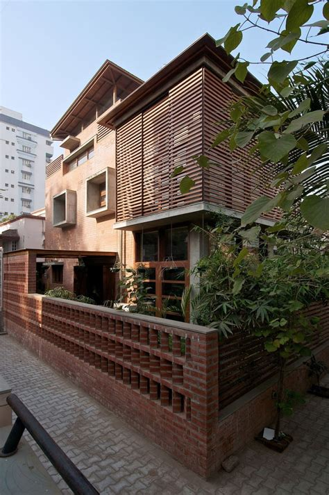 eco friendly green home  brick walls  india