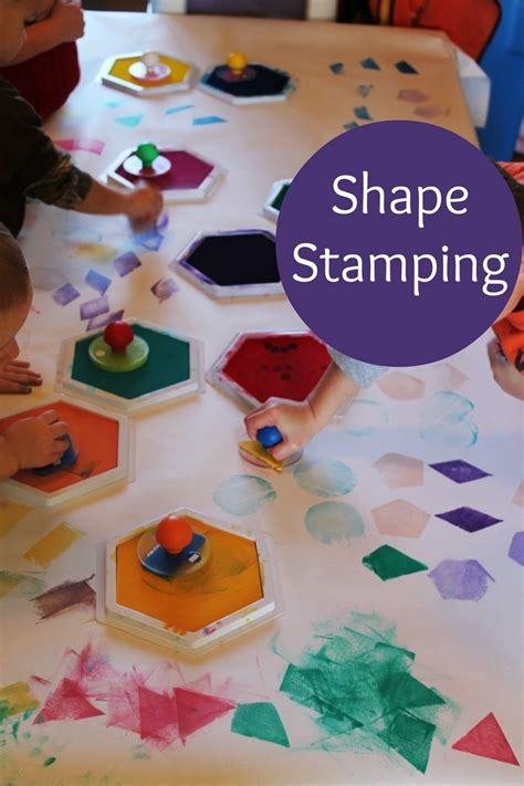 exploring shapes in preschool 830 | shape stamps 8 800x1200