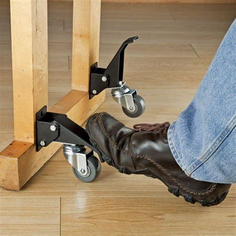 rockler workbench caster kit  pack bench castor wheels