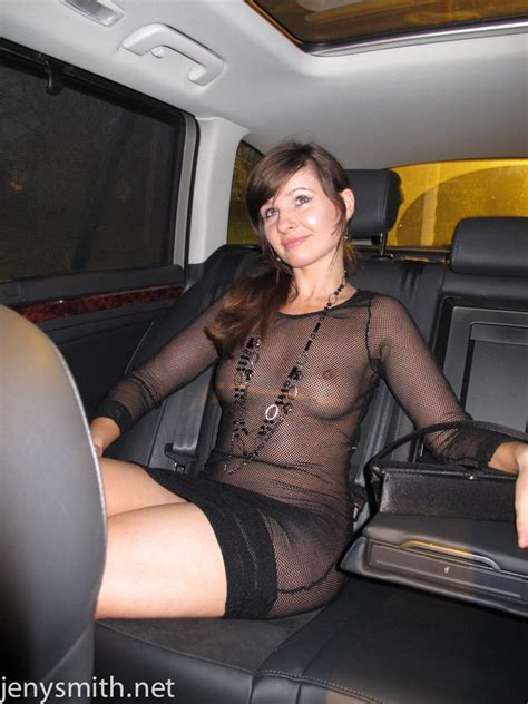 Jeny Smith Wearing A See Through Dress In Public