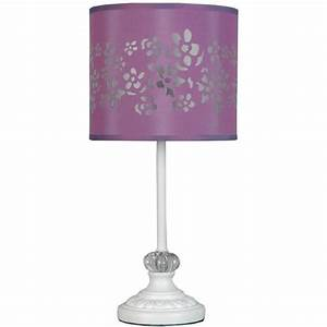 Your zone table lamp with purple shade walmartcom for 5 light floor lamp purple