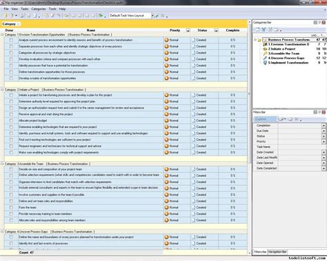 Business Process Transformation Checklist