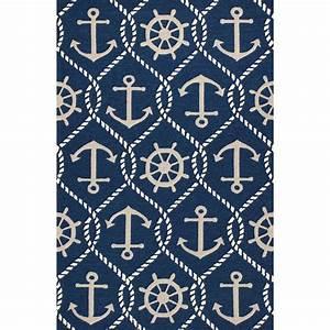 harbor navy marina indoor outdoor rug 8 x 10