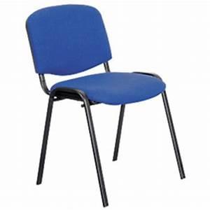 Chaise De Bureau Bleu : chaise d 39 accueil visiteur iso bleu fournitures de bureau ~ Teatrodelosmanantiales.com Idées de Décoration