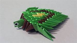 How To Make A Turtle 3d Origami  Modular Origami  For