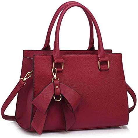 burgundy designer handbags womens designer shoulder handbags faux leather
