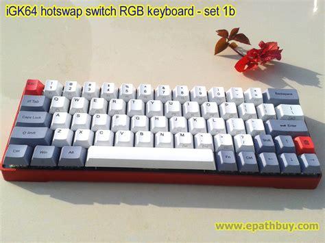 igk  compact  keyboard metal case pbt keycaps