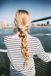 Long Blonde Hair Braid Ponytail