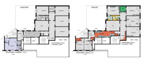chambres d h es lyon annexion a un appartement haussmannien à une