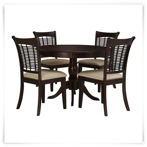 4 chair table set bayberry dark tone round table 4 chairs