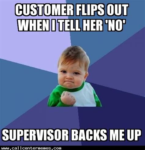 Supervisor Meme - success kid archives call center memes