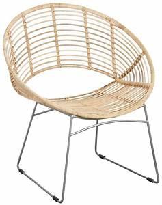 Fauteuil Rotin Rond : fauteuil rond en m tal et rotin naturel ~ Dode.kayakingforconservation.com Idées de Décoration