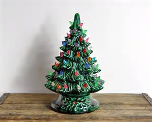vintage ceramic christmas tree by havenvintage on etsy