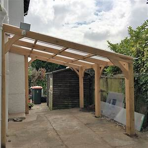 Lean To Car Port ARK Timber Buildings Carport Addition To