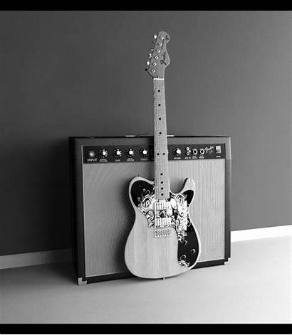 Guitar Fender Amp Bandw Deviantart Wallpapers Amplifier