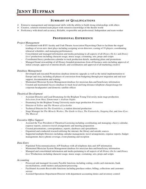 huffman resume 2012