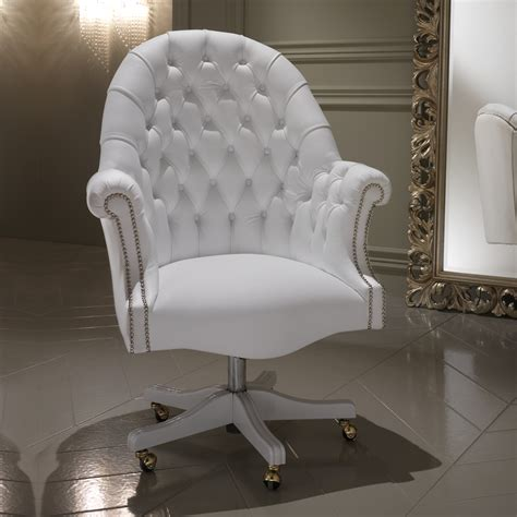 white office chair leather luxury white leather executive office chair