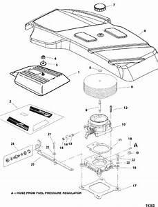 Mercruiser 350 Mag Mpi Horizon Mie Throttle Body  U0026 Flame Arrestor Parts